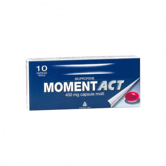 Moment Act Ibuprofene 10 Capsule Molli 400 mg